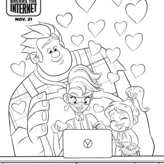 Pagina para colorear de Ralph Rompe Internet