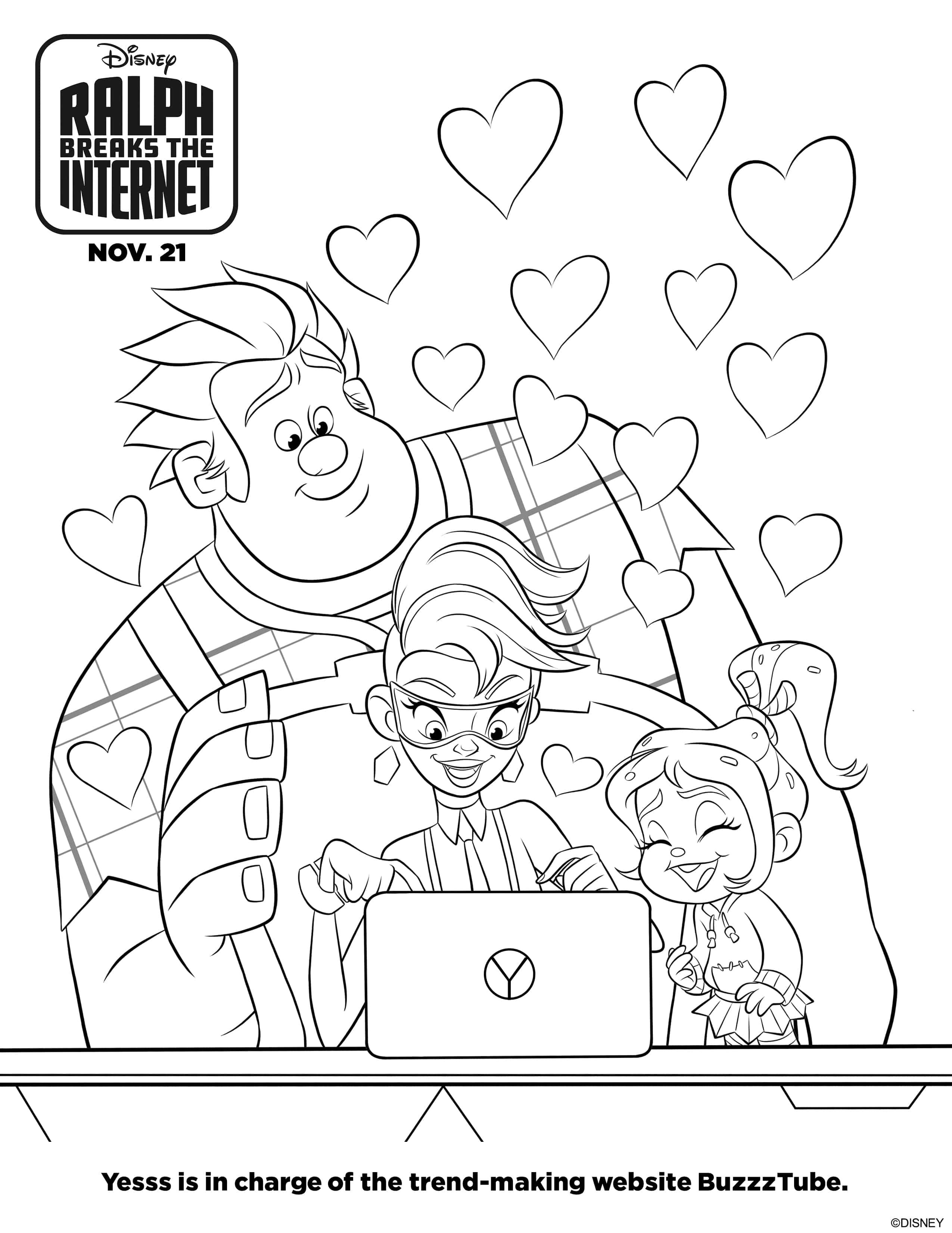 Ralph Breaks the Internet Coloring Pages + Blu-ray Bonus Features - Lola  Lambchops