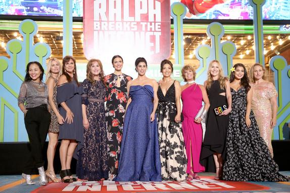 Disney Princesses walk the red carpet at Ralph Breaks the Internet Premiere