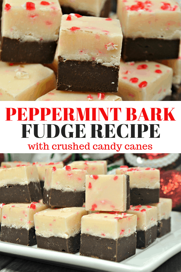 Make this easy Peppermint Bark Fudge Recipe for your holiday parties! This is also a great recipe to give to friends and neighbors during the holidays! Holiday baking for the win.