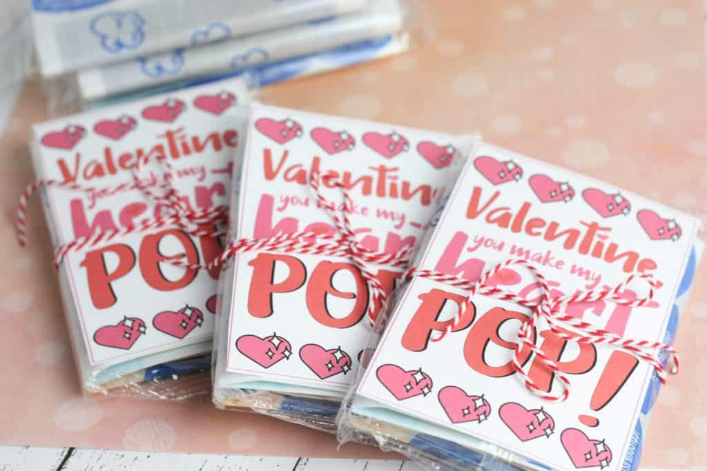 Printable Popcorn Valentine - Valentines Cards For Kids
