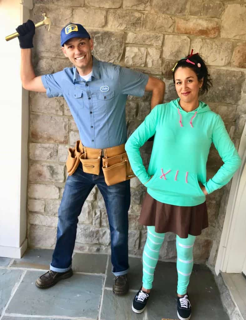 Fix It Felix and Vanellope Von Schweetz Costumes