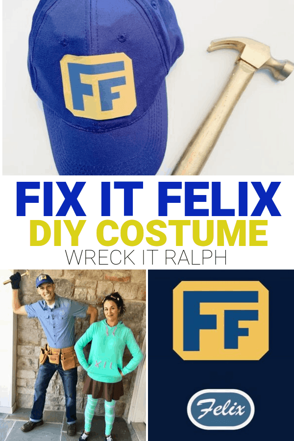 DIY Fix it Felix Costume from Wreck it Ralph