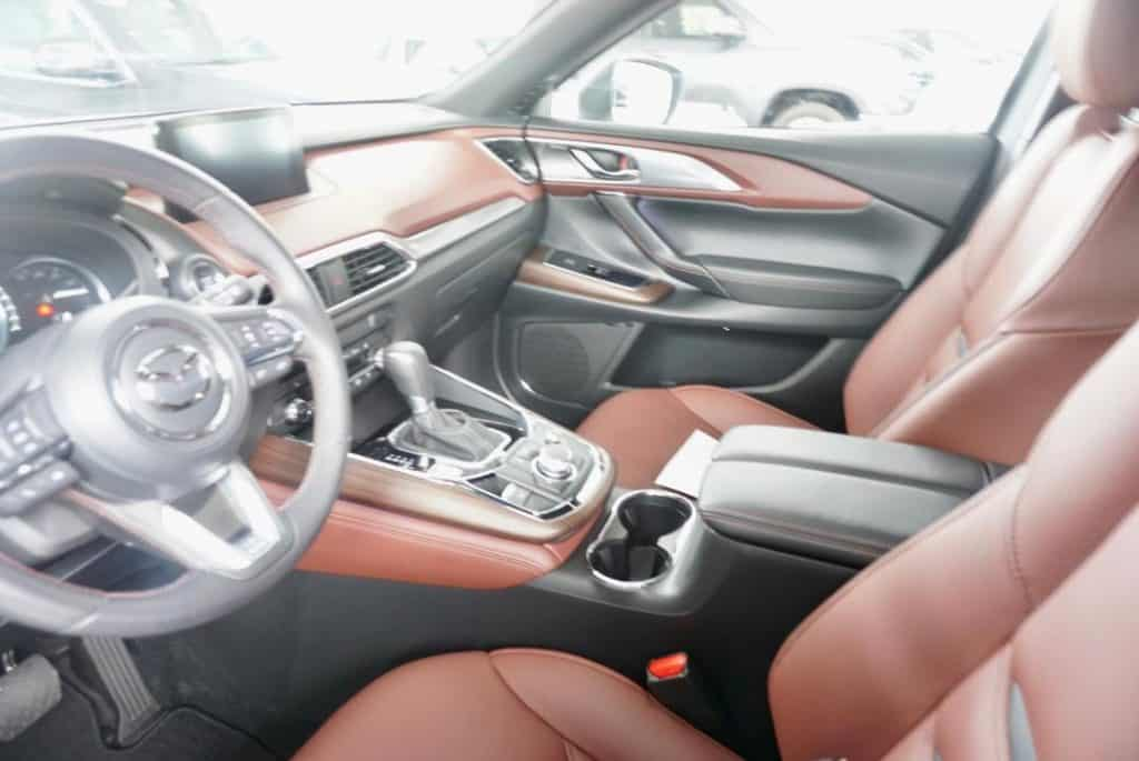 Mazda CX9 front seat is great for multigenerational road trips!