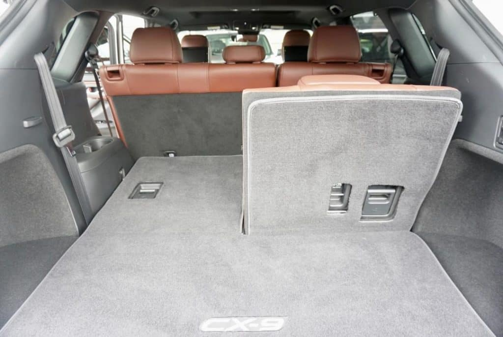 The trunk space in Mazda Cx-9 is a little lacking for a family of 7.