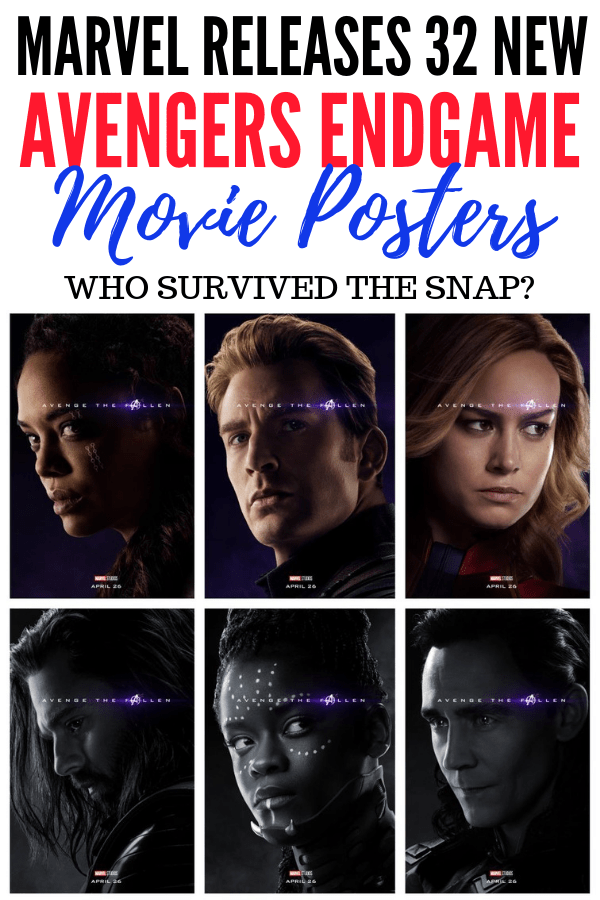 Who survived the snap from Thanos in Avengers: Infinity War? Marvel released 32 new Avengers Endgame posters to reveal who survived and who died.