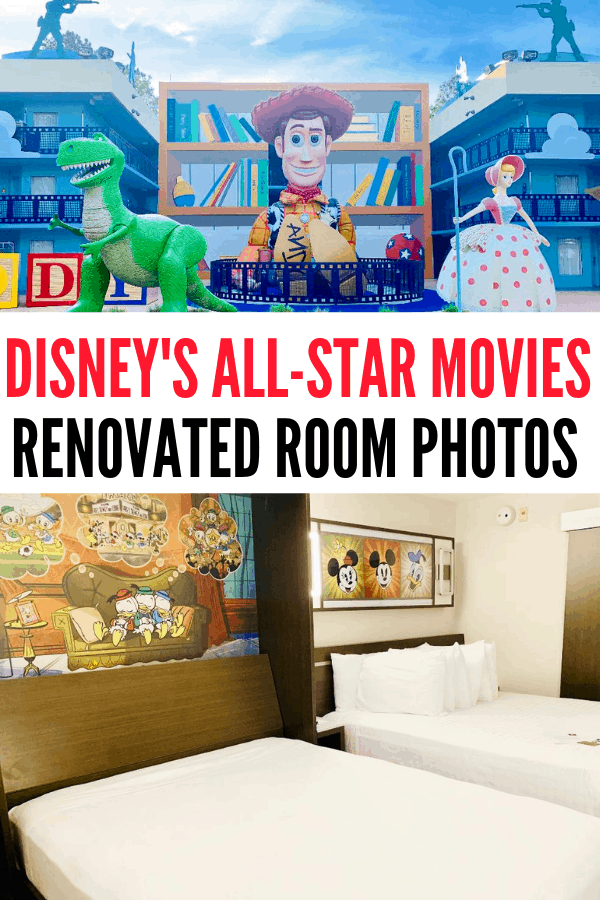 Have you seen the new renovated rooms at Disney's All-Star Movies Resort? Check out my review plus why this resort has moved to my top pick for Disney World Value Resorts!