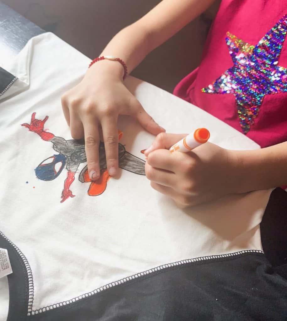 DIY Spider-Man T-shirt