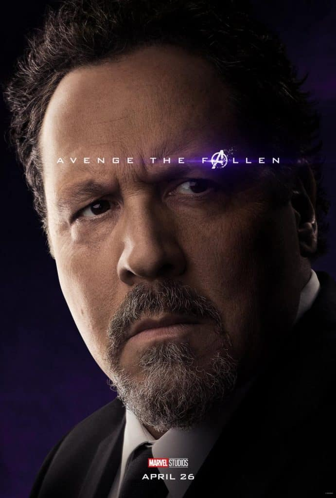 Happy Avengers: Endgame movie poster. Happy survived the snap.