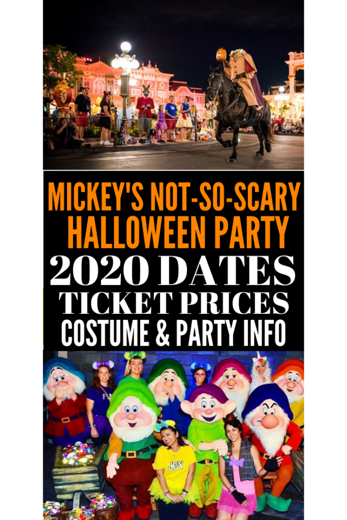 MICKEY'S NOT-SO-SCARY Halloween Party 2020 Dates