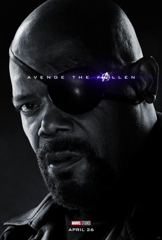 Nick Fury Avengers Endgame Poster