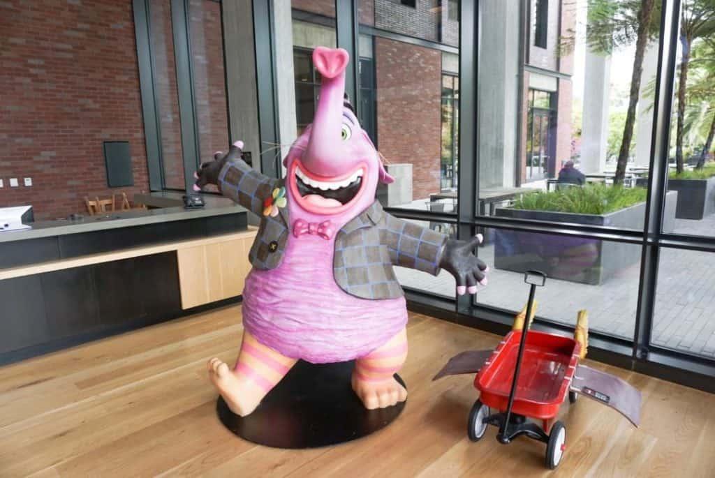 Bing Bong from Inside Out at Pixar Studios