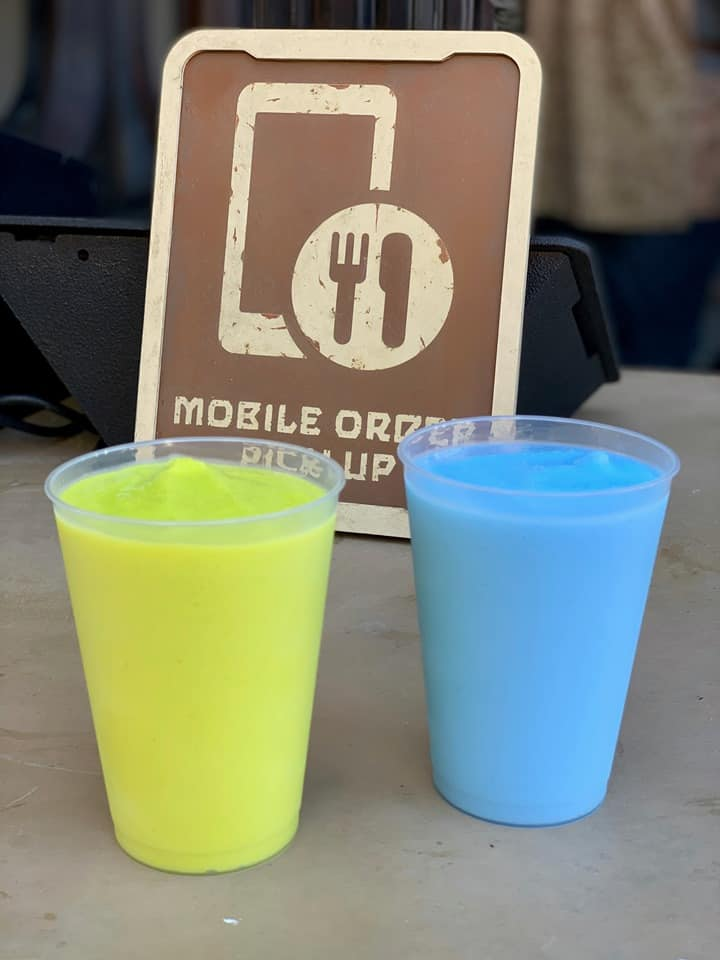 Blue and Green Milk at Galaxy's Edge