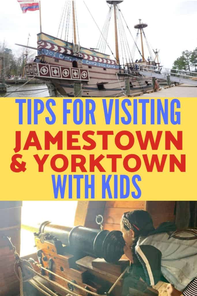 The best tips for visiting Jamestown Settlement and Yorktown near Williamsburg, VA with kids! There are so many activities for kids of all ages!