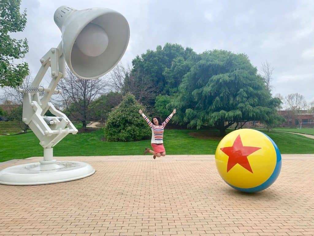 Pixar Studios Tour Luxo Ball and Luxo Jr. Lamp