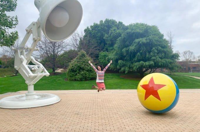 Pixar Studios Tour Luxo Ball and Luxo Jr. Lamp