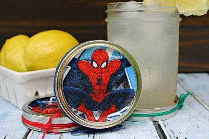 DIY Superhero Coasters including Spider-Man Craft