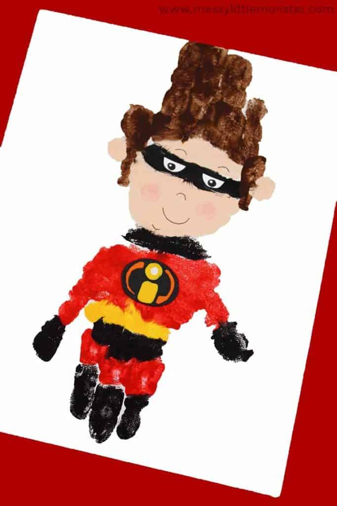 Incredibles Superhero craft handprint