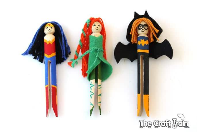Make your own superhero dolls for kids.