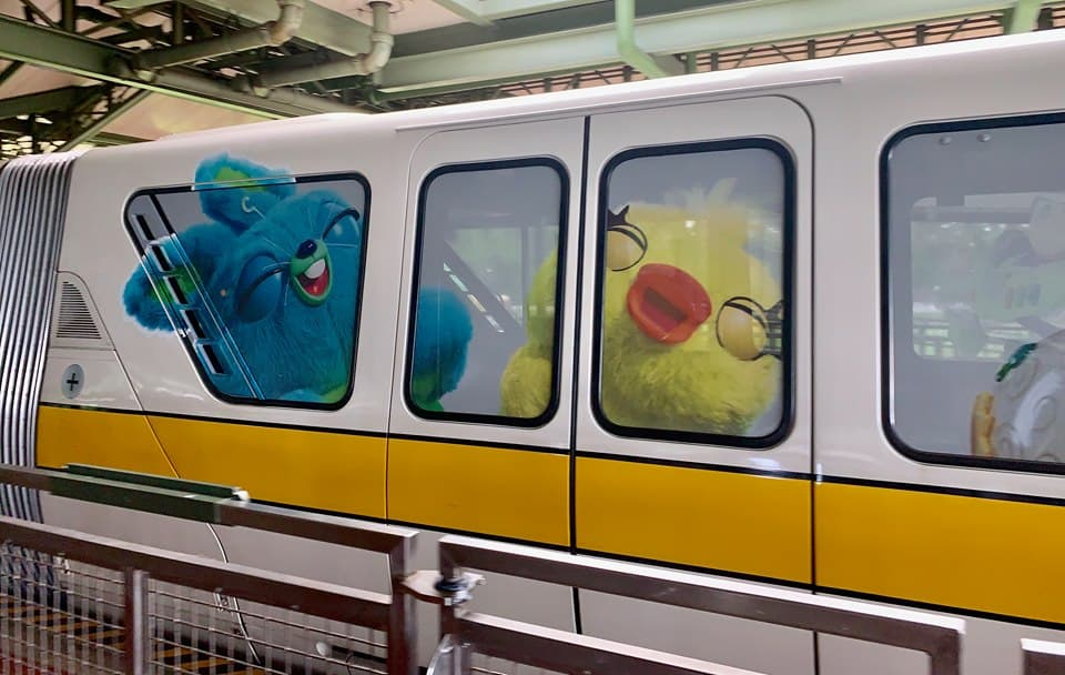 Duck and Bunny Monorail Toy Story 4