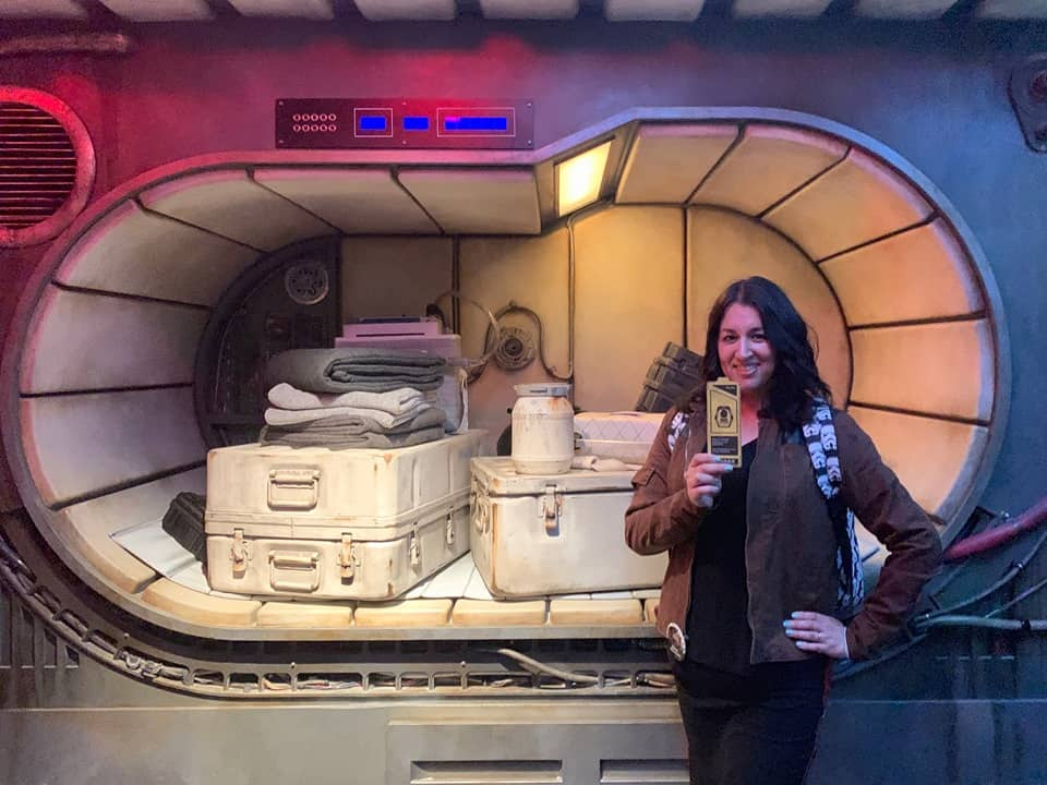 Photo ops inside Millennium Falcon while you wait for your group to be called in Smugglers Run
