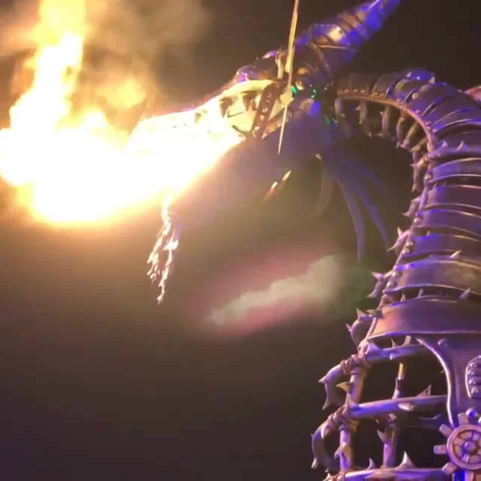 Watch Maleficent breathe fire at night at Villains After Hours in Disney World!