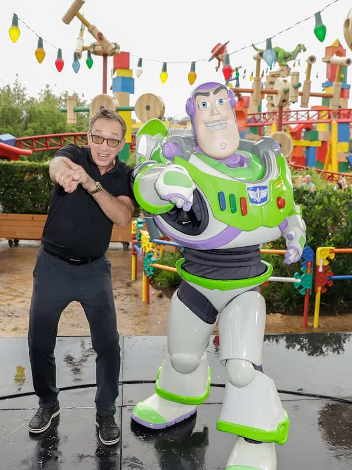 Tim Allen on Buzz Lightyear's man bun.