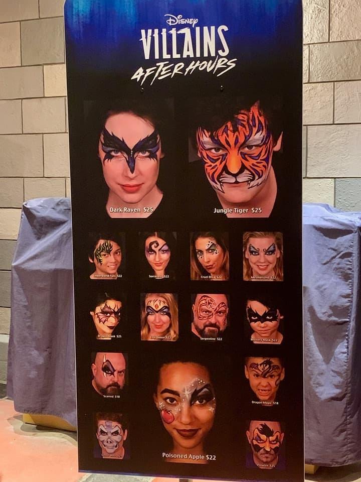 Villains After Hours Face Paint