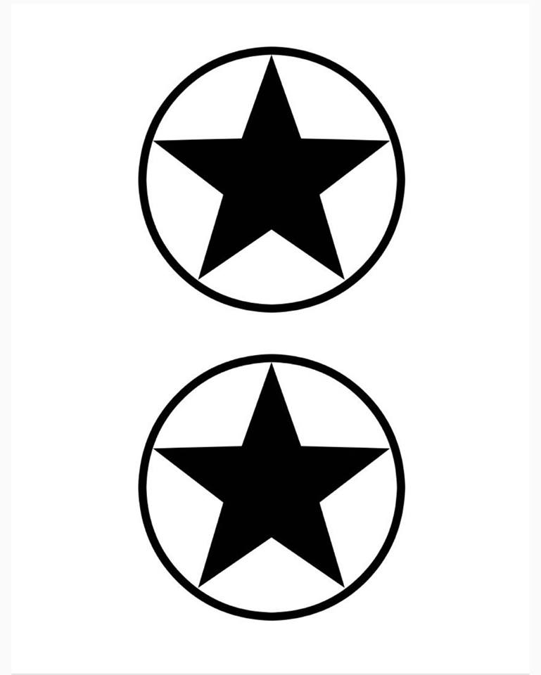 Captain America Shield Star Template