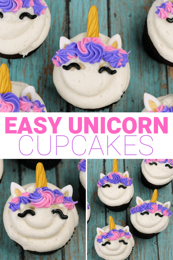 Easy Unicorn Cupcakes