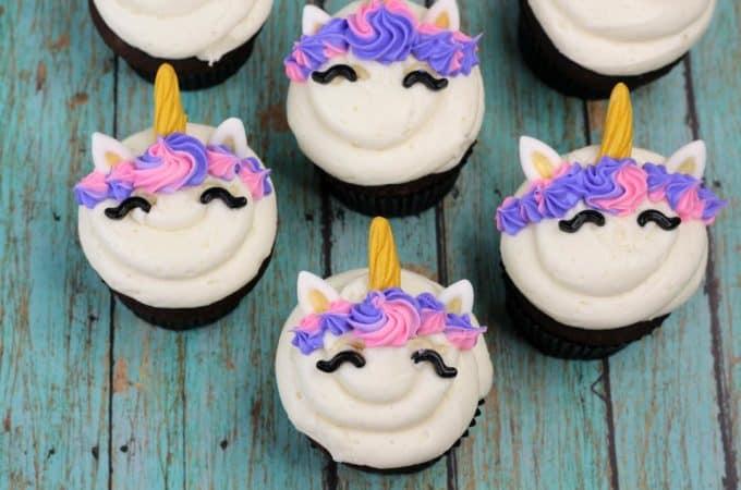 Easy unicorn cupcakes!