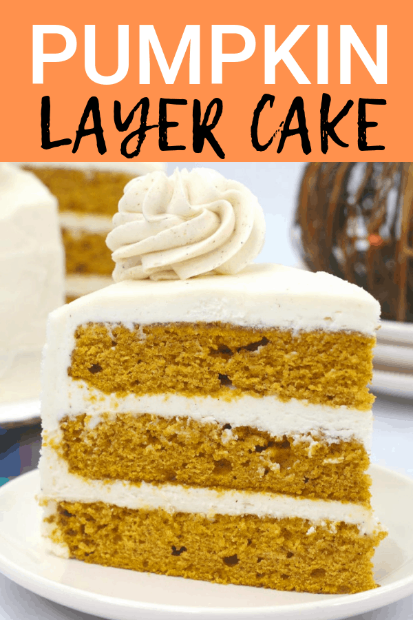 Fun fall recipe for pumpkin layer cake!