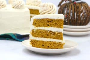 Pumpkin Layered Cake Recipe with Cinnamon Cream Cheese Frosting