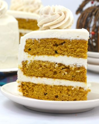 Pumpkin Layered Cake Recipe with Cinnamon Cream Cheese Frosting