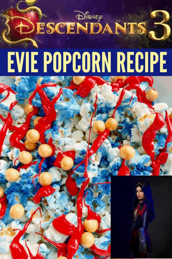Descendants 3 Snacks - Evie Popcorn