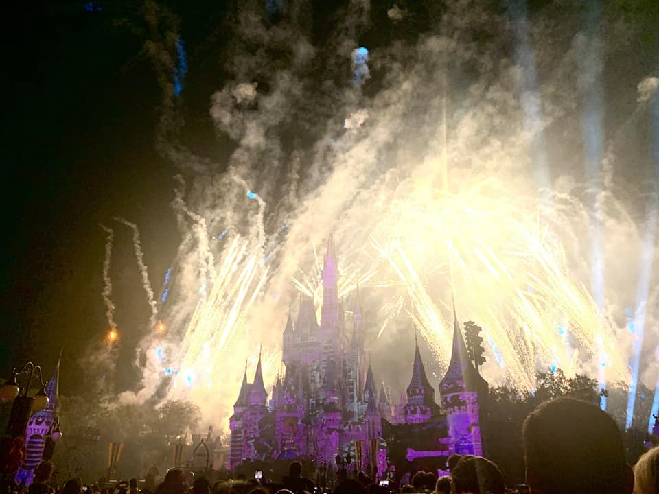 Disney Not So spooky Spectacular Fireworks