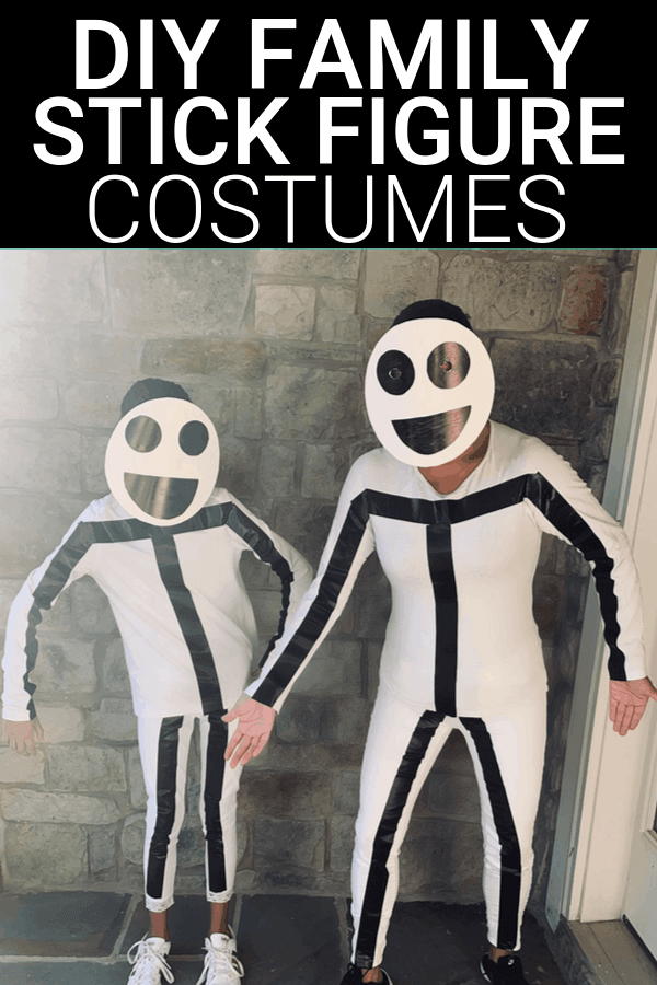 DIY Family Stick Figure Halloween Costumes