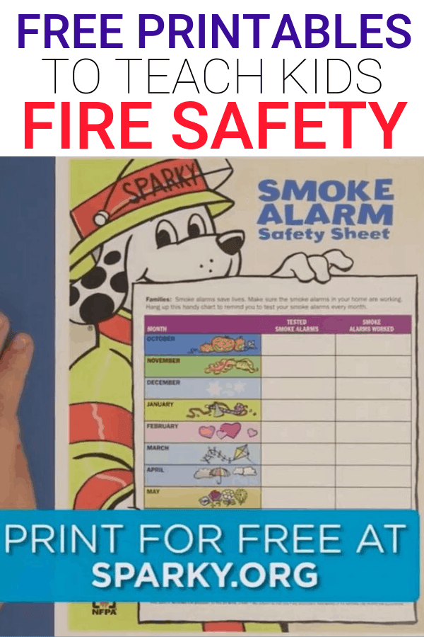 Free Fire Safety Printables for Kids
