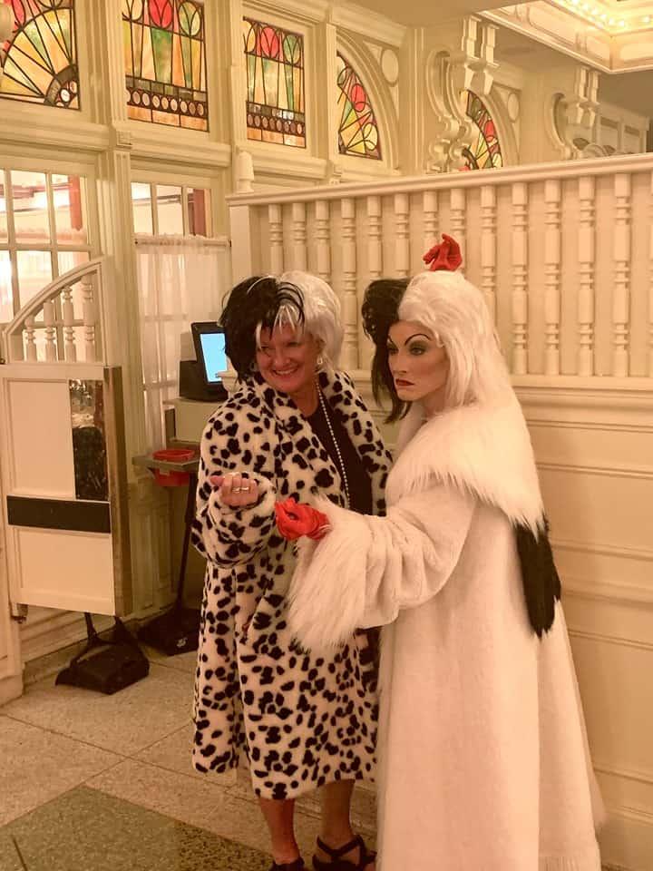 Cruella Meet and Greet at Cruella's Halloween Hideaway