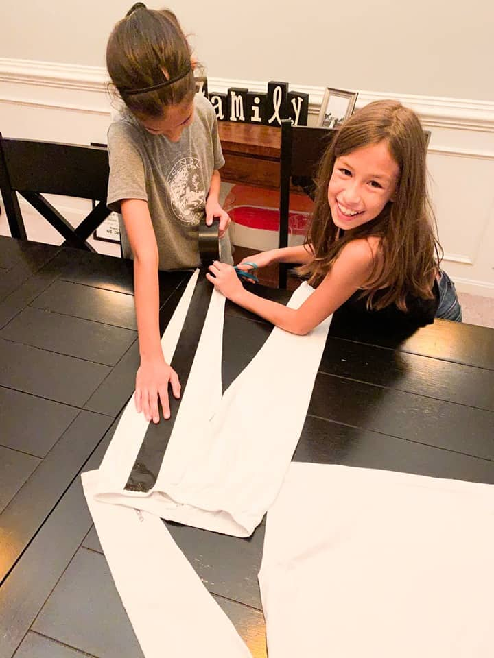 Making family stick figure costumes