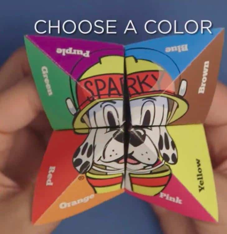 Fire safety for kids cootie catcher