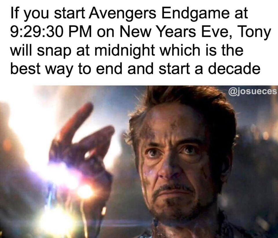 Avengers Endgame New Year's Eve Meme