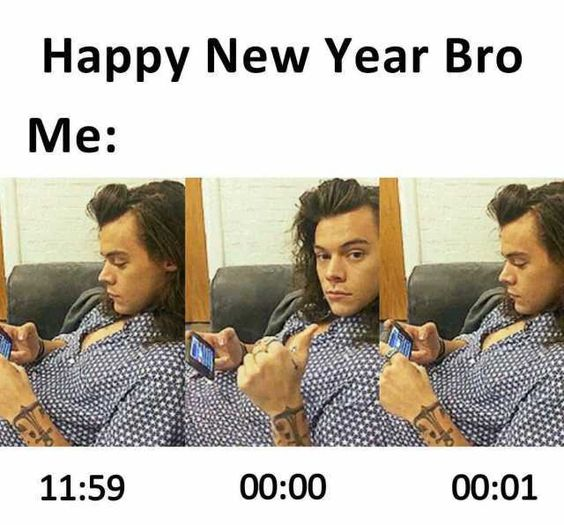 Harry Styles New Year Meme
