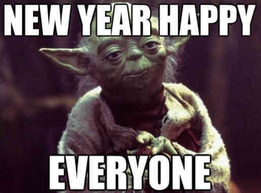 Yoda New Year meme