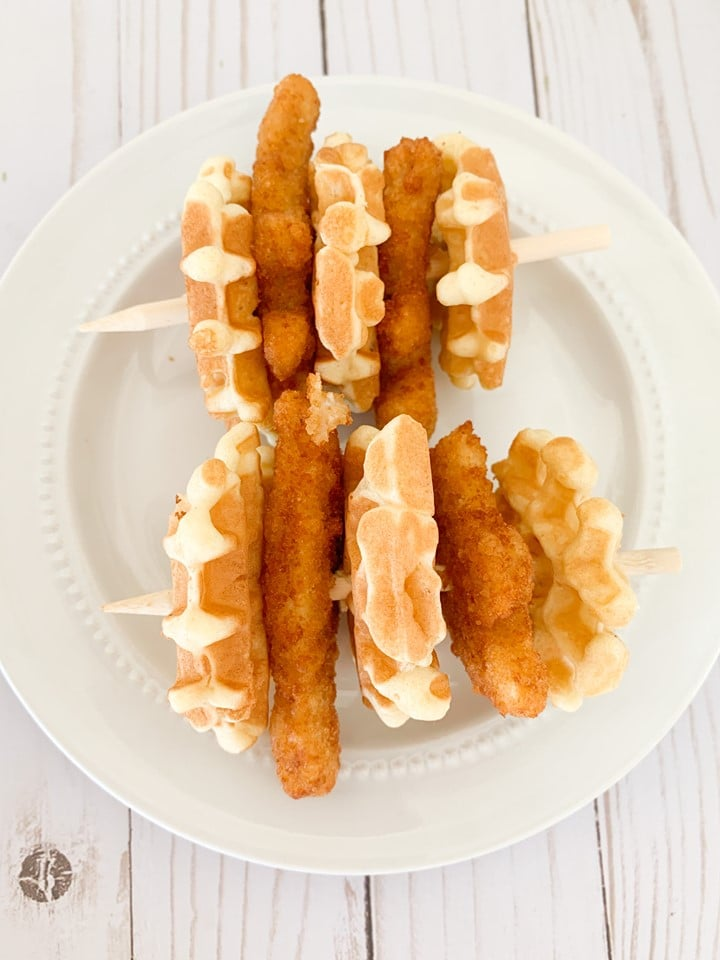 Chicken and Waffle Kabobs