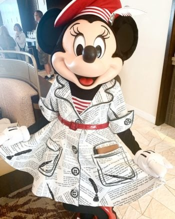Minnie Mouse at Topolino's Terrace Character Breakfast