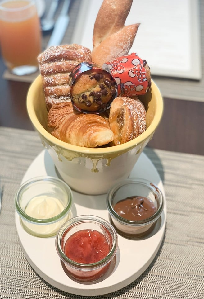 Assorted pastries review at Topolino's Terrace Character Breakfast