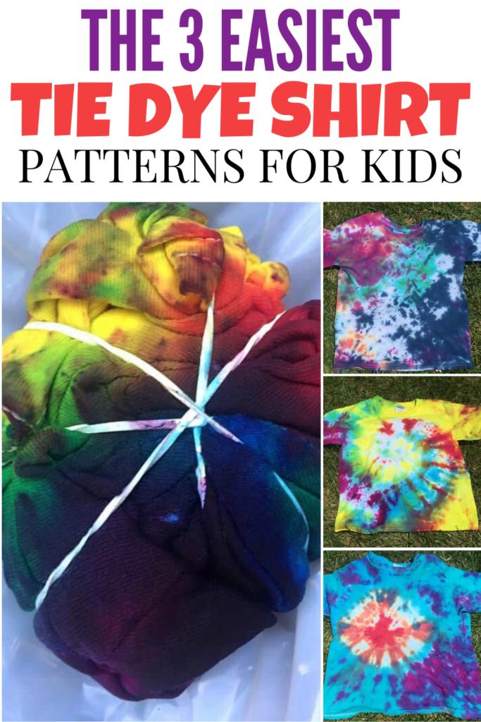 Easy Tie Dye Patterns For Kids