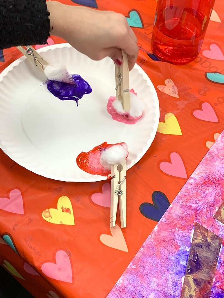 Valentine's Day Paint Craft For Kids