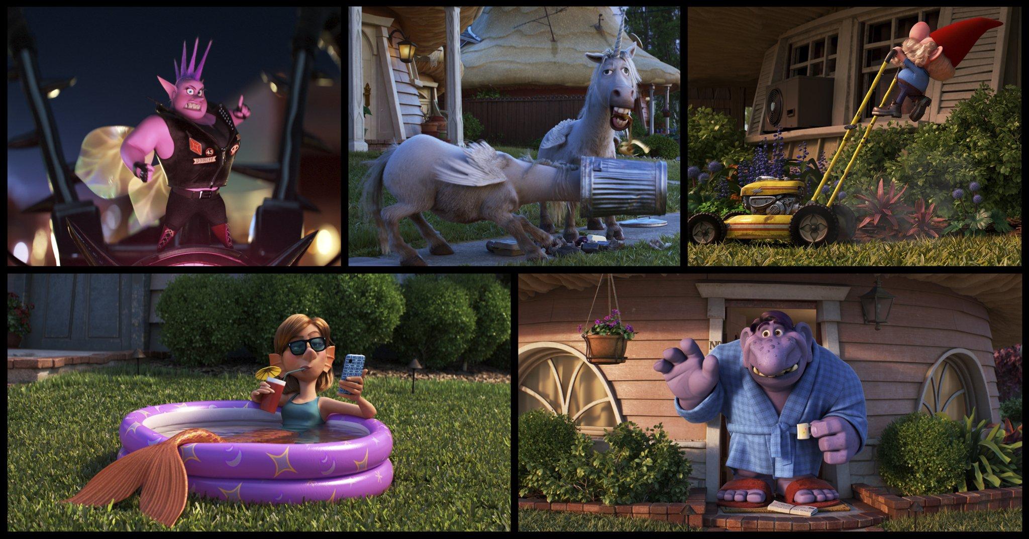 Pixar Onward Magical Characters